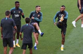 Nelson Semedo in Barcelona training