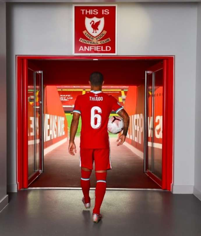 Thiago at Anfield