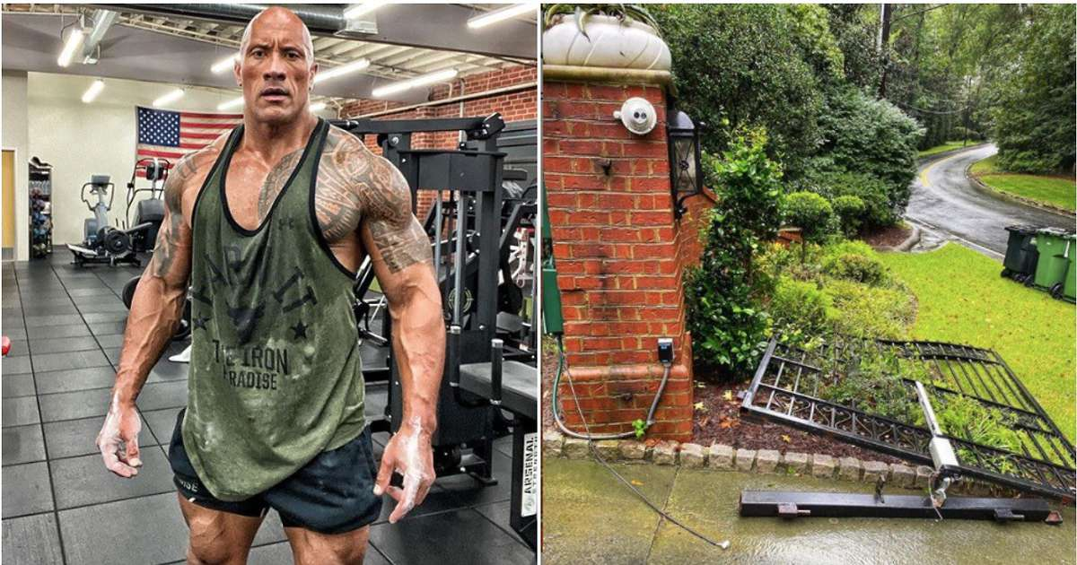 WWE news: The Rock rips off electric gate with bare hands to get to work on time - GIVEMESPORT