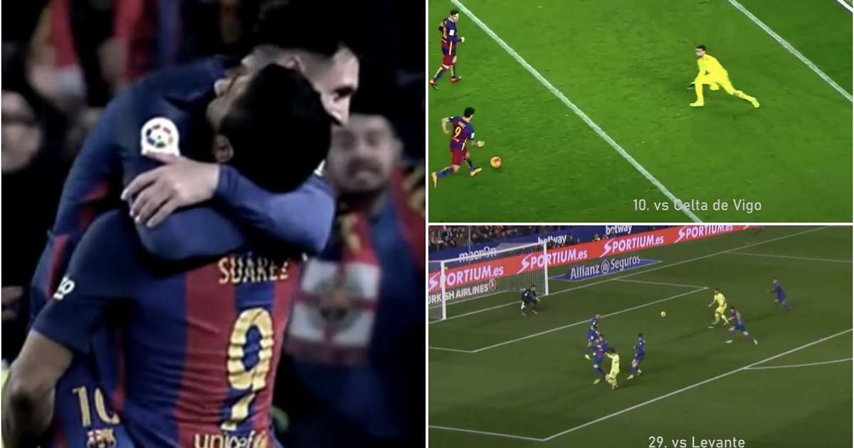 Lionel Messi and Luis Suarez's incredible chemistry at Barcelona highlighted in compilation - GIVEMESPORT