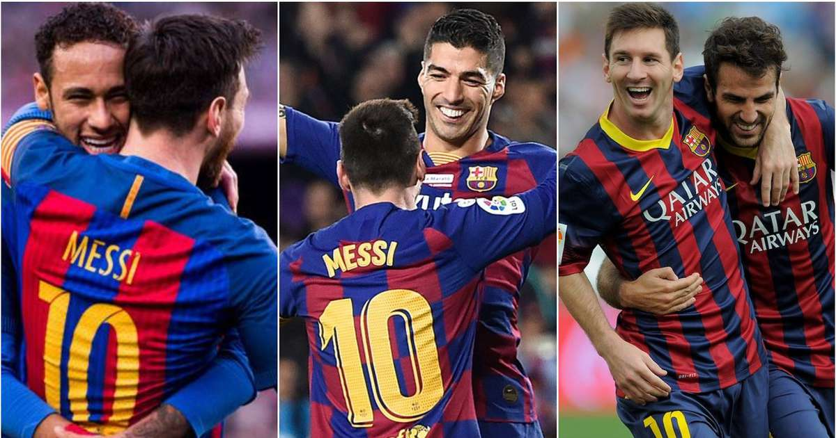 Ranking Lionel Messi's best 20 teammates ever based on joint goal involvements