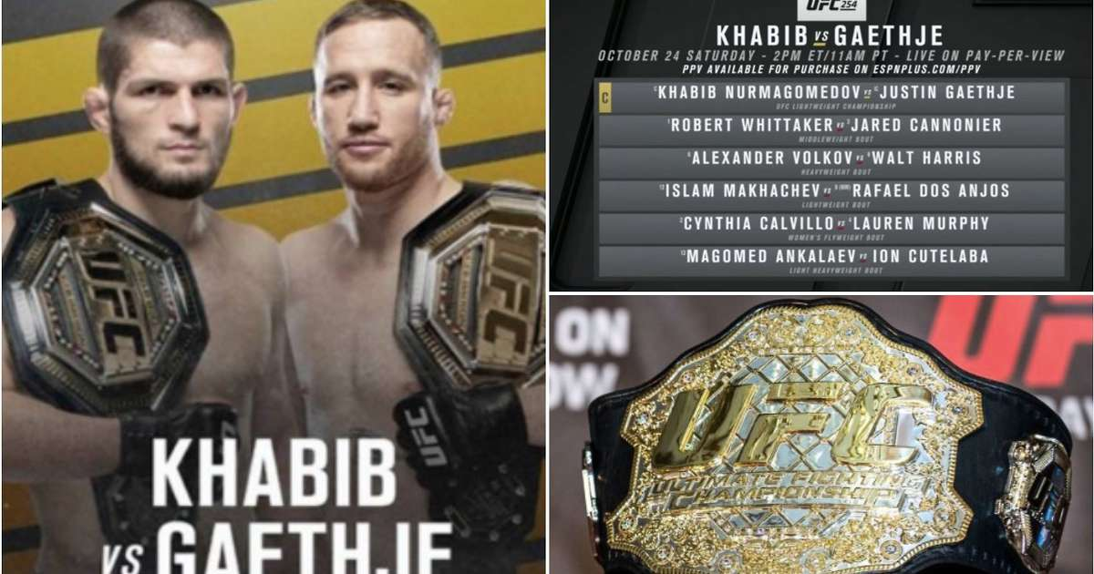 UFC 254 news: Who is fighting on the Khabib Nurmagomedov vs Justin Gaethje card? - GIVEMESPORT