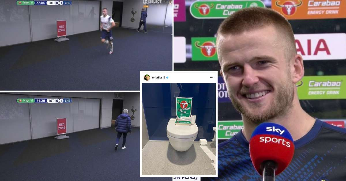 Eric Dier uploads brilliant Instagram after being chased by Mourinho for going for a s**t