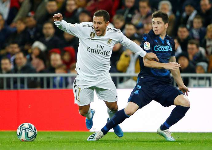 Hazard in action for Real Madrid