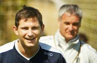 Chelsea's Frank Lampard coached by Claudio Ranieri