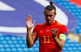 Gareth Bale wears the captain's armband for Wales