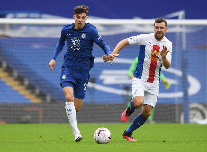 Havertz in action vs Palace