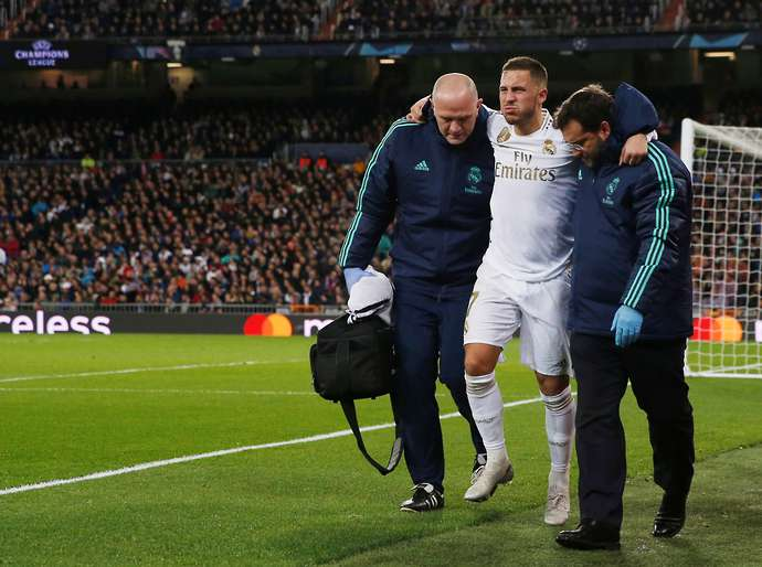 Hazard has suffered injuries at Real Madrid