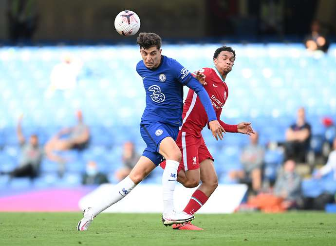 Havertz in action vs Liverpool