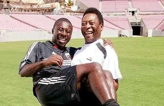 Freddy Adu and Pele