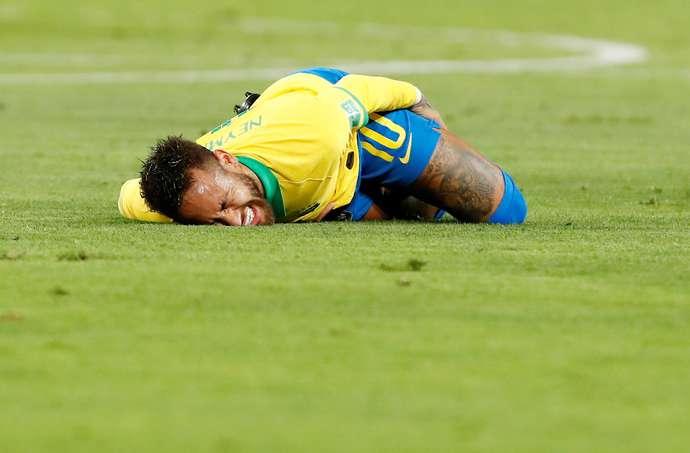 Neymar during Brazil vs Peru