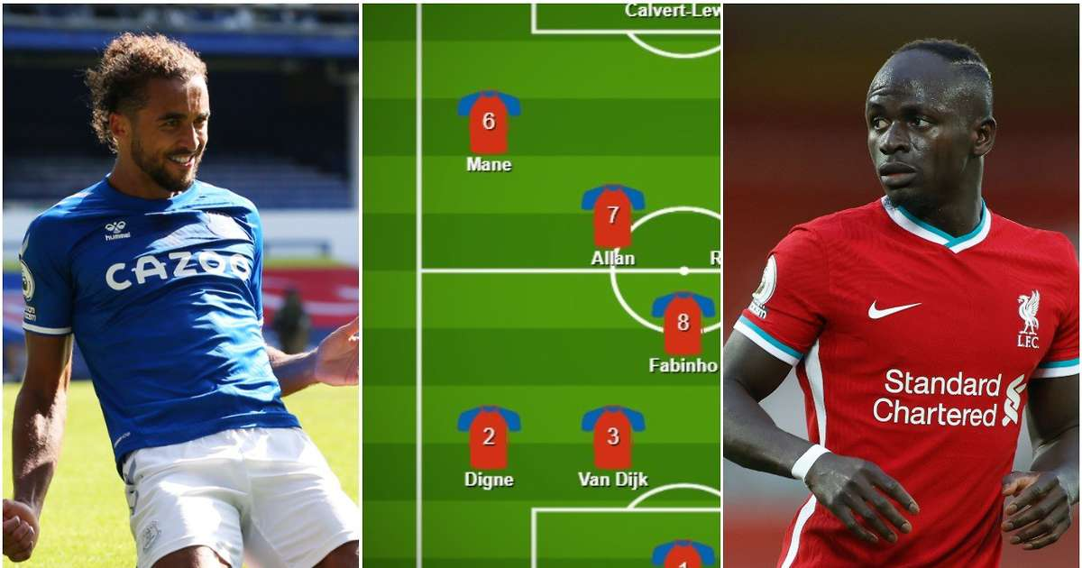 Liverpool and Everton's combined XI for the Merseyside derby based on 20/21 form