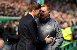 Steven Gerrard and Neil Lennon