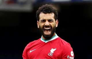 Mohamed Salah scored his 100th goal for Liverpool vs Everton