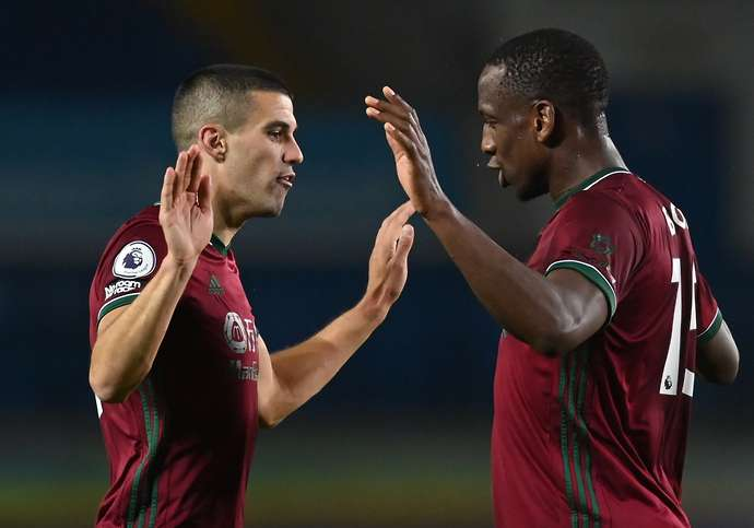 Coady & Willy Boly after the Leeds game