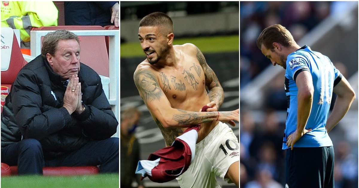 Ranking the top 10 Spursy results after Tottenham throw away 3-0 lead against West Ham