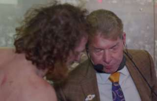 Zayn and McMahon share a moment backstage in WWE