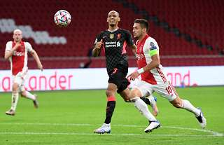 Liverpool S Adrian Pretends To Kick Ball As Fabinho Produces Goal Line Clearance Vs Ajax Givemesport
