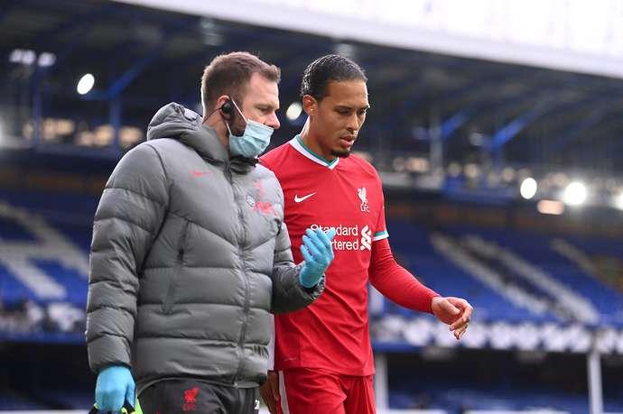 Van Dijk is taken off injured