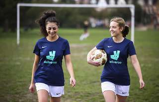 Deliveroo are supporting Women's Football