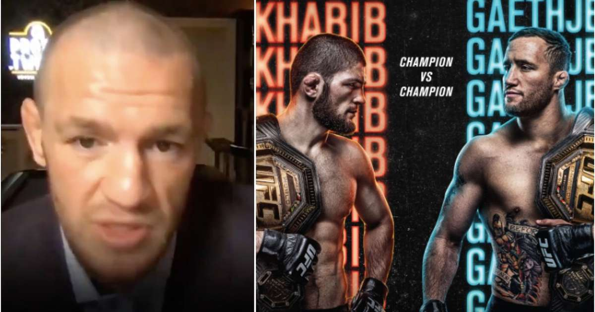 Conor McGregor fires shots at Khabib when making his prediction for Gaethje fight
