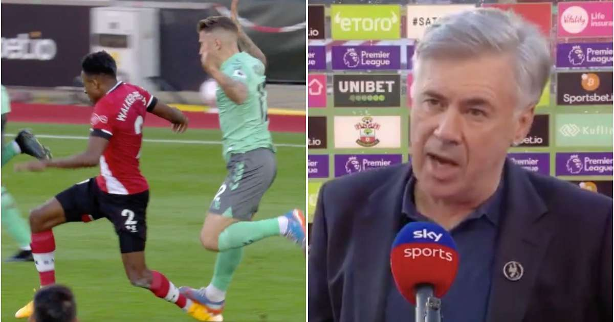 Carlo Ancelotti suggests Richarlison & Pickford incidents v Liverpool caused Digne's red