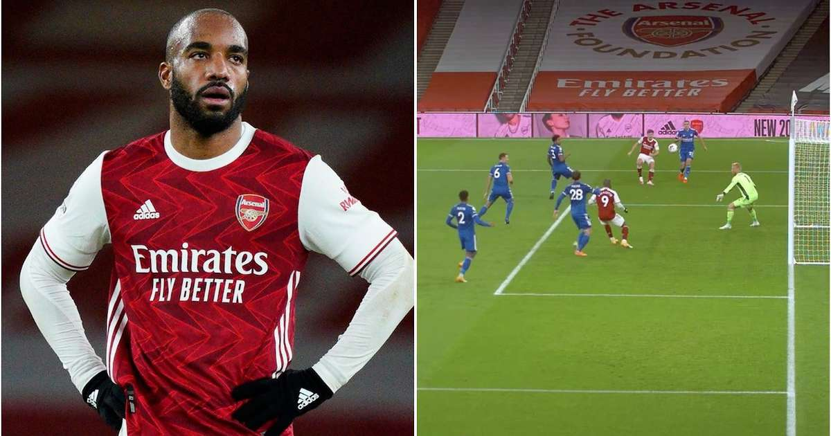 Arsenal fans have had enough of Alexandre Lacazette after he misses sitter in Leicester loss