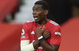 Paul Pogba in action for Man Utd