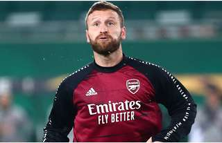 Shkodran Mustafi in action for Arsenal