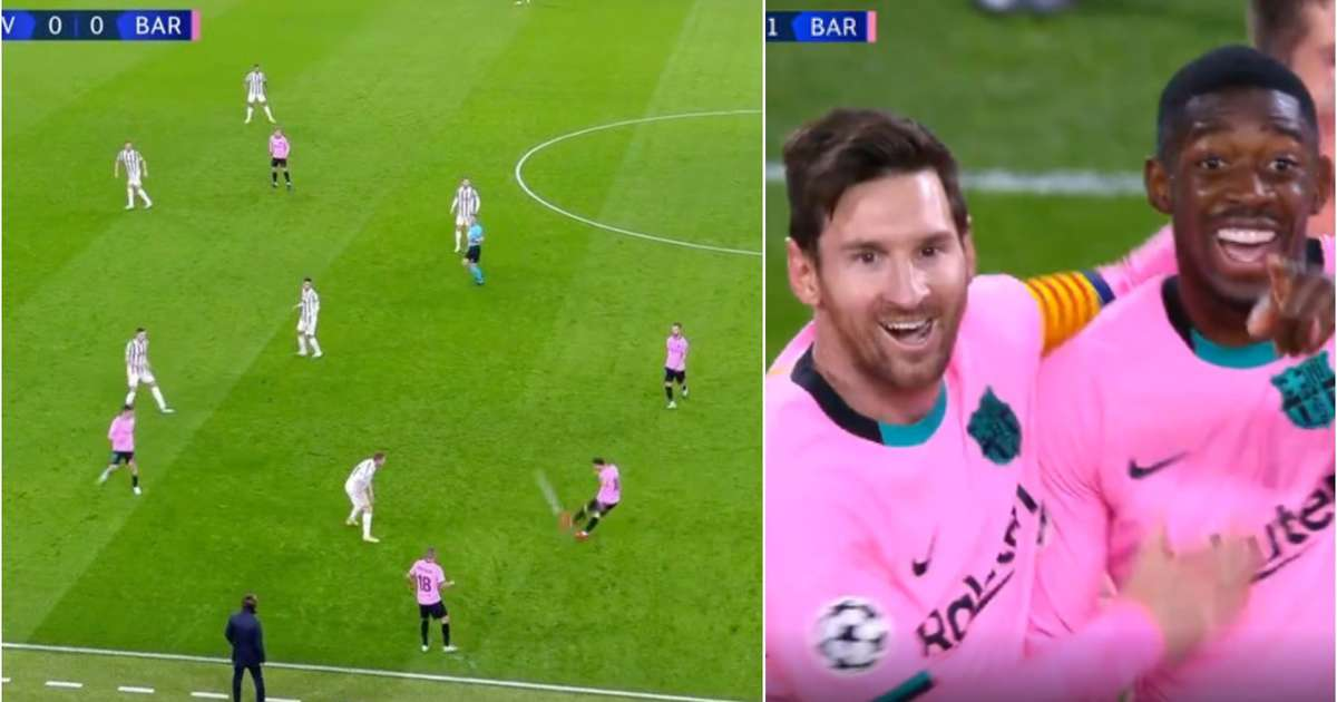 Juventus vs Barcelona: Lionel Messi's assist for Ousmane Dembele's goal was stunning | GiveMeSport