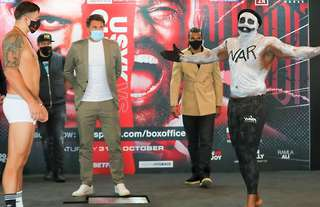 Chisora is five pounds lighter for this weekend's bout