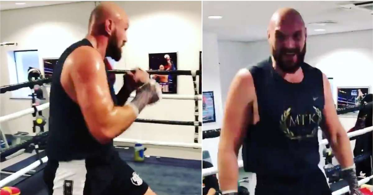 Boxing fans are raving about Tyson Fury's shape after training clip ahead of December fight