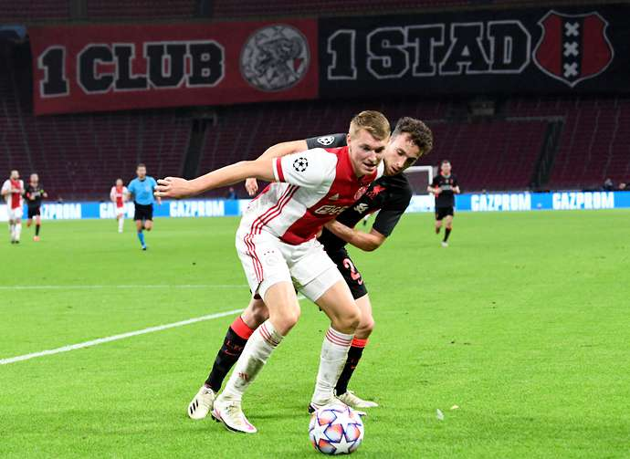 Perr Schuurs in action for Ajax