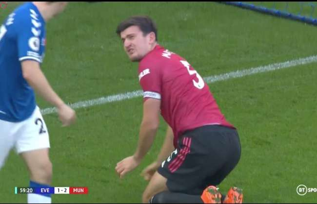 Everton 1 3 Manchester United Seamus Coleman Angrily Screamed At Harry Maguire Givemesport