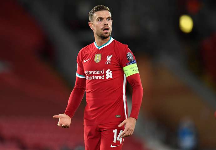 Jordan Henderson in action for Liverpool