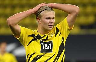 Erling Haaland in action for Dortmund