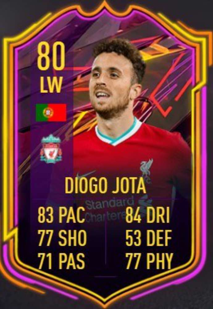 Diogo Jota's FIFA 21 card