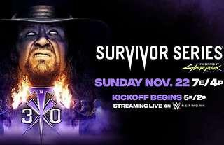 Survivor Series returns on Sunday night