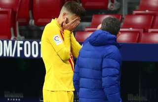 Gerard Pique suffered a bad knee injury against Atletico Madrid